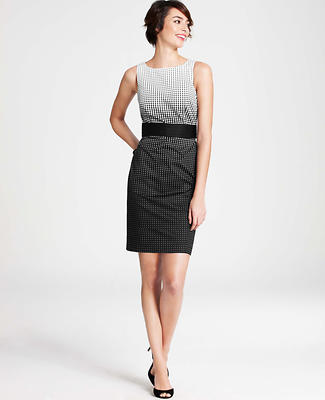 Gradient Dot Sheath Dress