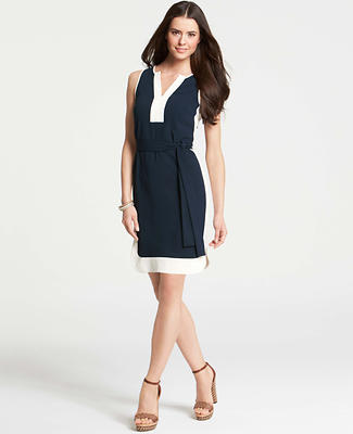Banded Tie-Front Dress