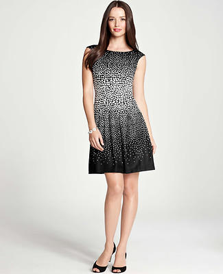 Abstract Dots Print Dress