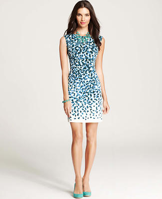 Falling Petals Sheath Dress