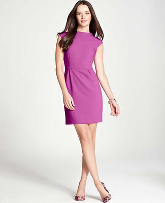 Doubleweave Cap Sleeve Dress