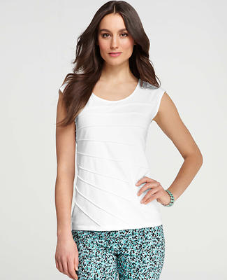 Sunburst Pleat Cap Sleeve Top