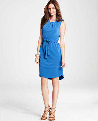 Crepe Shirttail Hem Dress