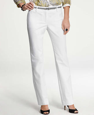 Signature Cotton Sateen Straight Leg Pants