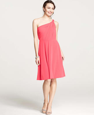 Jersey One Shoulder Bridesmaid Dress