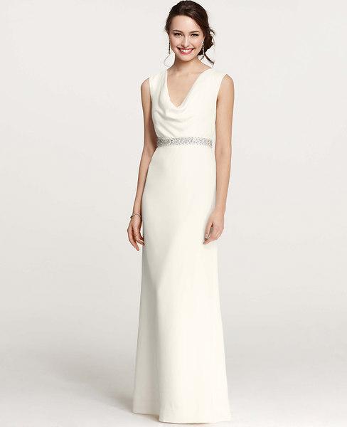 Mya Cowl Neck Wedding Dress