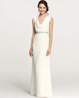 Mya Cowl Neck Wedding Dress