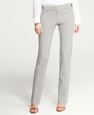 Modern Seersucker Straight Leg Pants