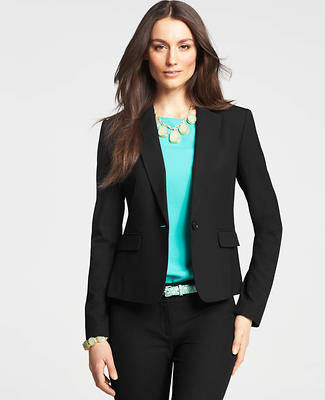 Petite All-Season Stretch One Button Jacket