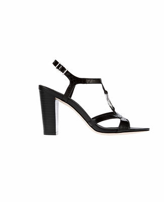 Marisol Block Heel Exotic Leather Sandals