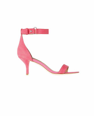 Mara Leather Kitten Heel Sandals