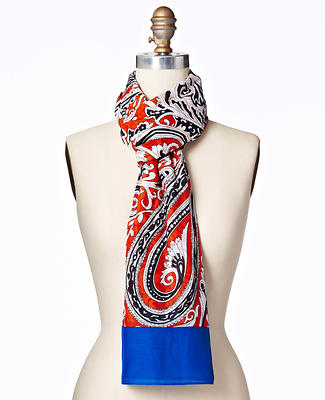 Paisley Cotton Silk Scarf