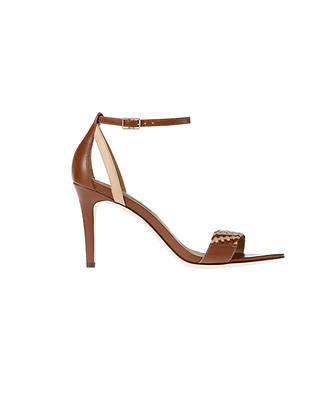 Mylan High Heel Leather Sandals