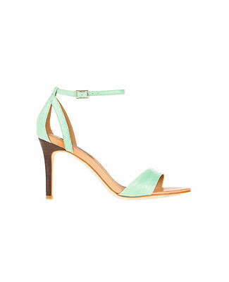 Mylan Exotic Leather Ankle Strap Sandals