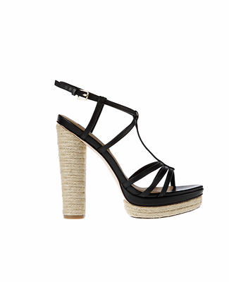 Roslyn Espadrille Wrapped Leather Platform Sandals
