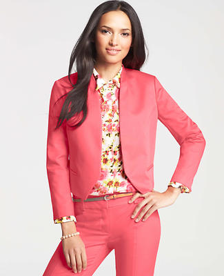 Petite Cotton Sateen Open Jacket