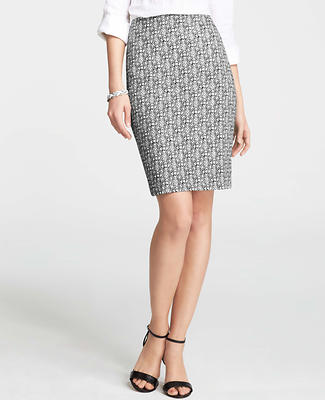 Mosaic Print Pencil Skirt