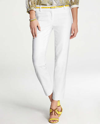 Textured Ankle Pants