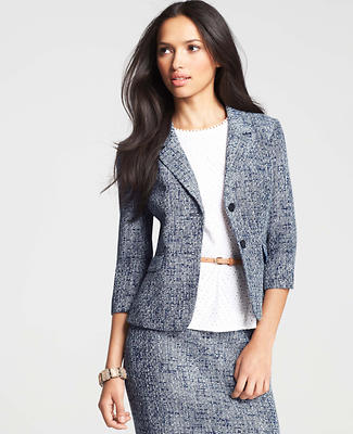 Petite Two Button Tweed Jacket
