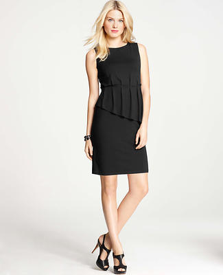 Asymmetrical Peplum Dress