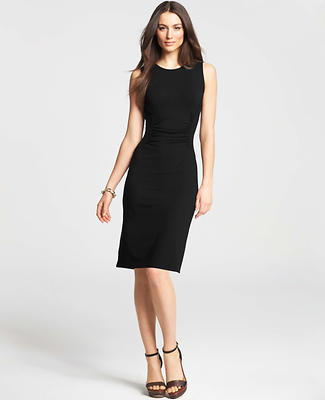 Petite Ruched Jersey Sheath Dress