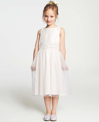 Silk Dupioni and Tulle Flower Girl Dress