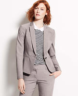 Tropical Wool One Button Jacket