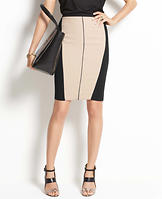 Colorblock Pencil Skirt