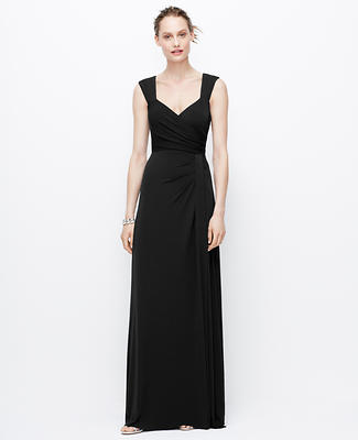 Jersey Tucked Strap Gown