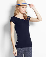 Side-Button Tee