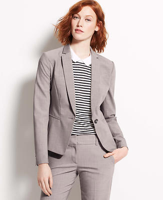 Tall Tropical Wool One Button Jacket