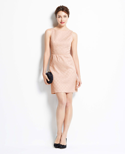 Dot Jacquard Bow Back Dress