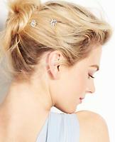 Circle Stone Hair Clips