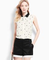 Embroidered Dot Sleeveless Top