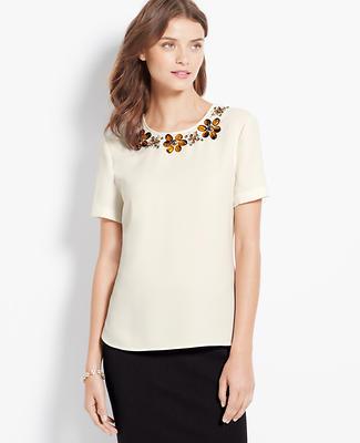 Tortoiseshell Embellished Top