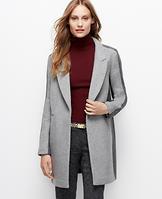 Notch Collar Colorblock Coat