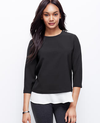 Structured Flounce Hem Top