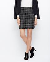 Tweed Fringe Pencil Skirt
