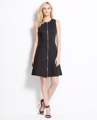 Zip Front Ponte Dress