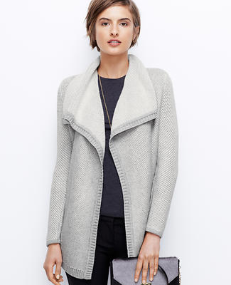 Textured Open Sweater Jacket