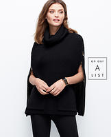Side Zip Poncho