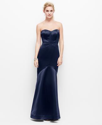 Duchess Satin Strapless Gown