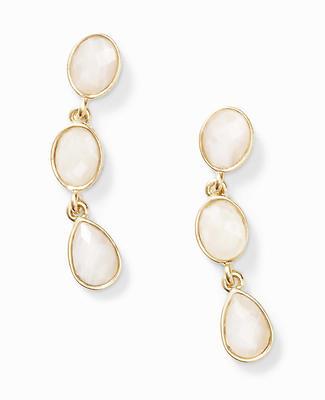 Blush Stone Drop Earrings