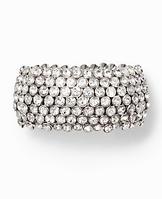 Circular Crystal Cuff Bracelet