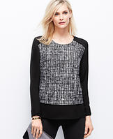 Tweedy Georgette Blouse
