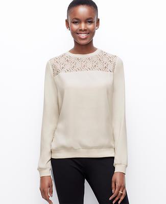 Lacy Woven Sweatshirt