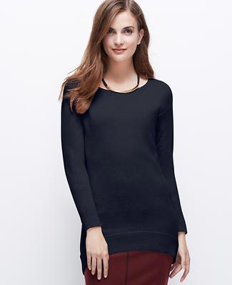 Cashmere Hi-Lo Hem Sweater