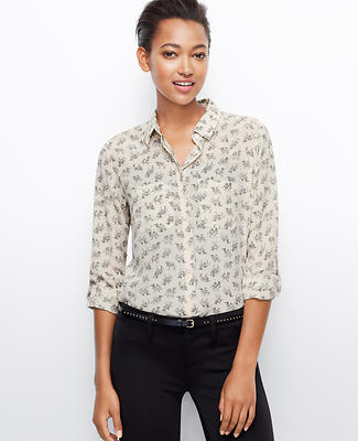 Camel Print Silk Camp Shirt