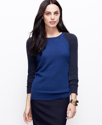 Colorblock Cashmere Sweatshirt