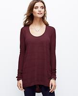 Seamed Tunic Sweater